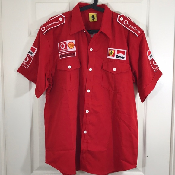Pit Crew Shirts >> Ferrari Shirts Rare Michael Schumacher Pitcrew Shirt Nwot Poshmark